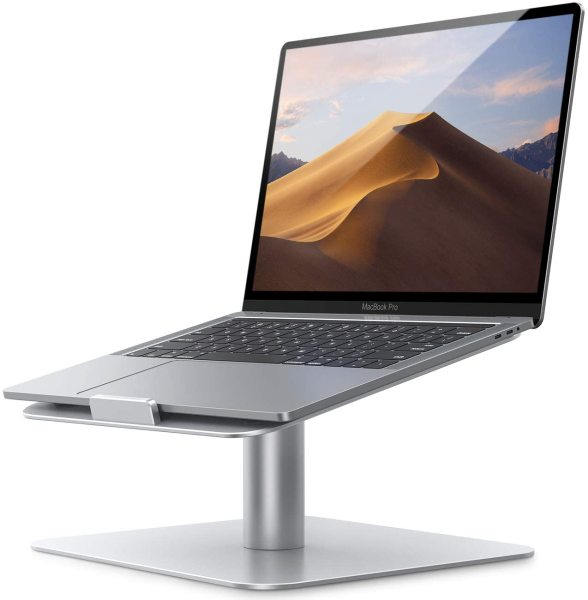 Rotating Laptop Stand For All Brands Up To 17 Notebook 360 Degree - Sturdy and  Easily Rotates Notebook Stand For MacBook, Air, Pro, Dell XPS, HP, Samsung, Lenovo and More
