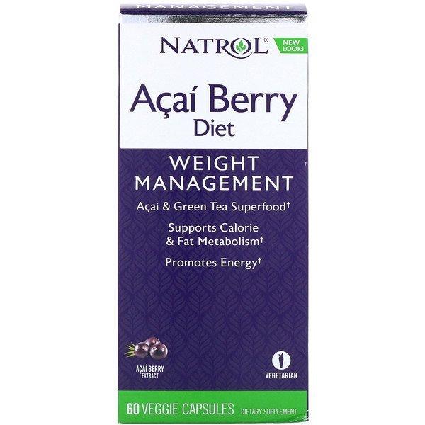Buy Natrol, Acai Berry Diet, Acai & Green Tea Superfoods, 60 Veggie Capsules Singapore