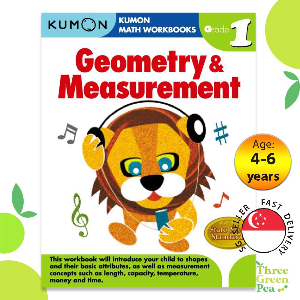 Kumon Math Workbooks Grade 1 - Geometry & Measurement