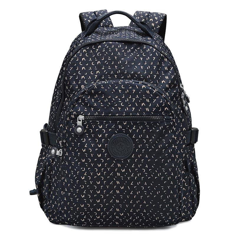Nylon Female Backpack Tour Package Large Capacity Leisure Oxford Cloth Flower Bag Male Backpack School Bag Backpack
