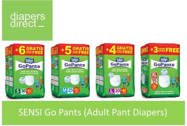 Buy Sensi Go Pants (Adult Pant Diapers) Carton Sale Size S to XL - Premium Quality and High Absorbency Singapore