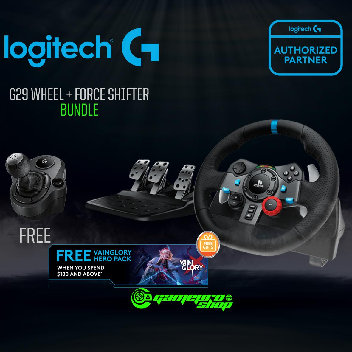 Logitech G29 Driving Force Racing Wheel With Force Shifter *gss Promo* By Gameprosg (capitaland Merchant).