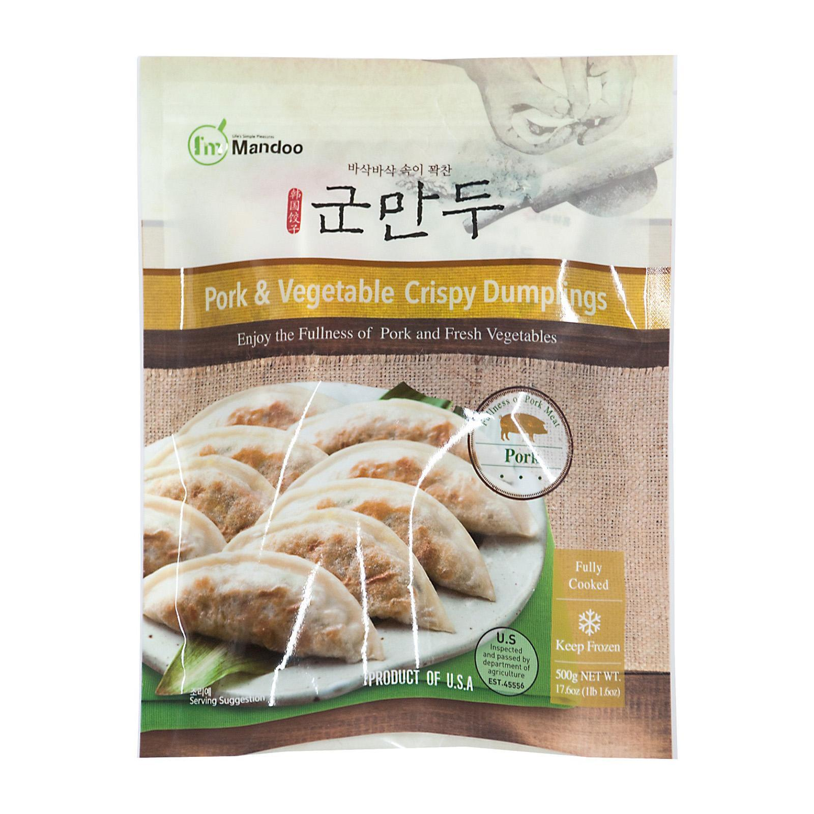 I'm Mandoo Pork And Vegetable Crispy Korean Dumplings - Frozen
