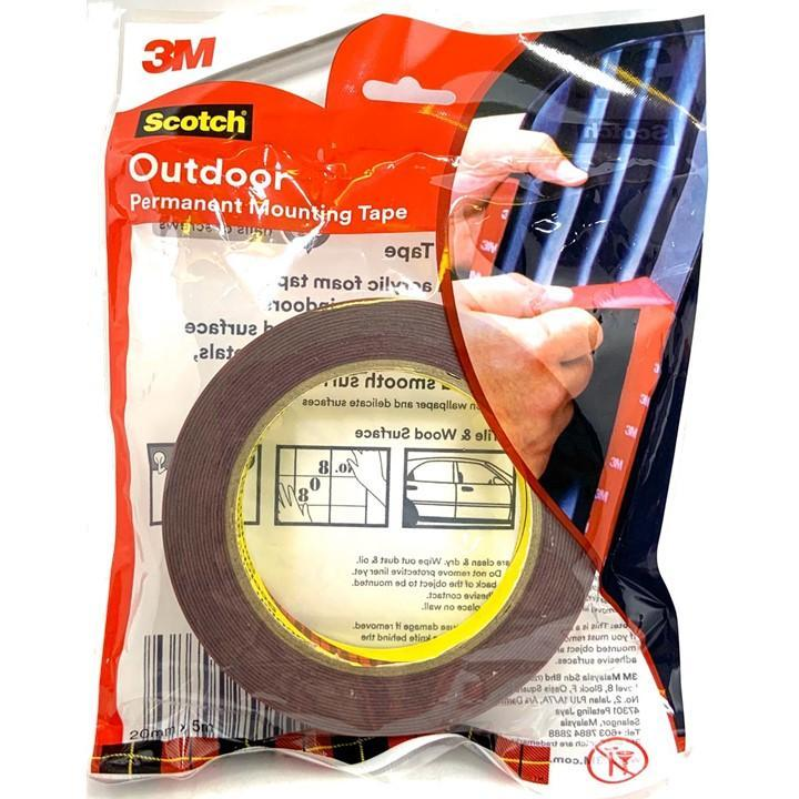 3M Scotch® Super Strong Outdoor Permanent Mounting Tape - 20mm x 5meters