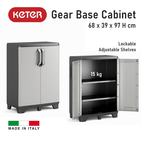 Keter Gear Base Kitchen Storage Cabinet