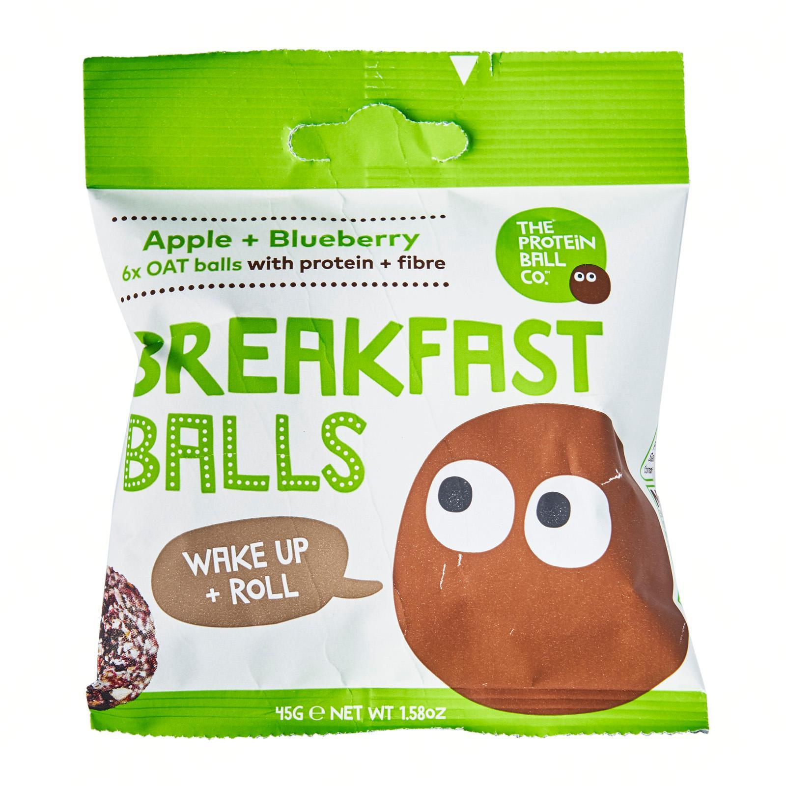 The Protein Ball Co All Natural Apple and Blueberry Breakfast Balls with Oats - Vegan