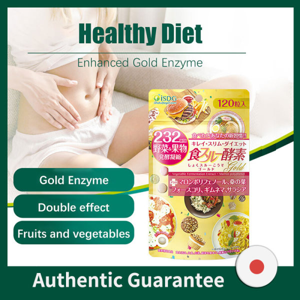 Buy ISDG Gold Enzyme Weight Loss Slimming Products Plant Essence Ferment Supplement Natural Astaxanthin.120 Counts Singapore