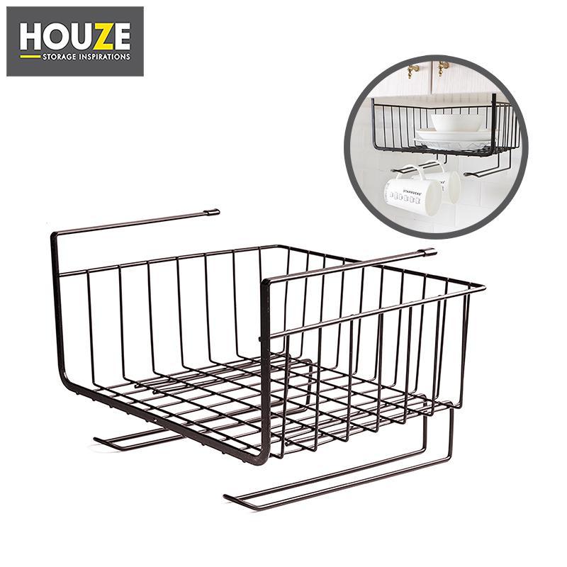 Overhead Shelf Hanging Basket - Coffee (Dim: 28.5x26x20cm)