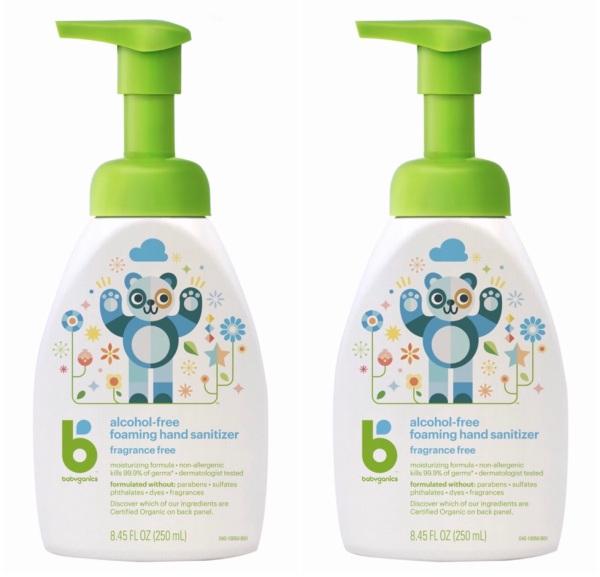 Buy Babyganics Hand Sanitizer 250ml x Bundle of 2 | Fragrance & Alcohol Free | Safe For Babies & Kids | Foam Formulation | US Product Singapore