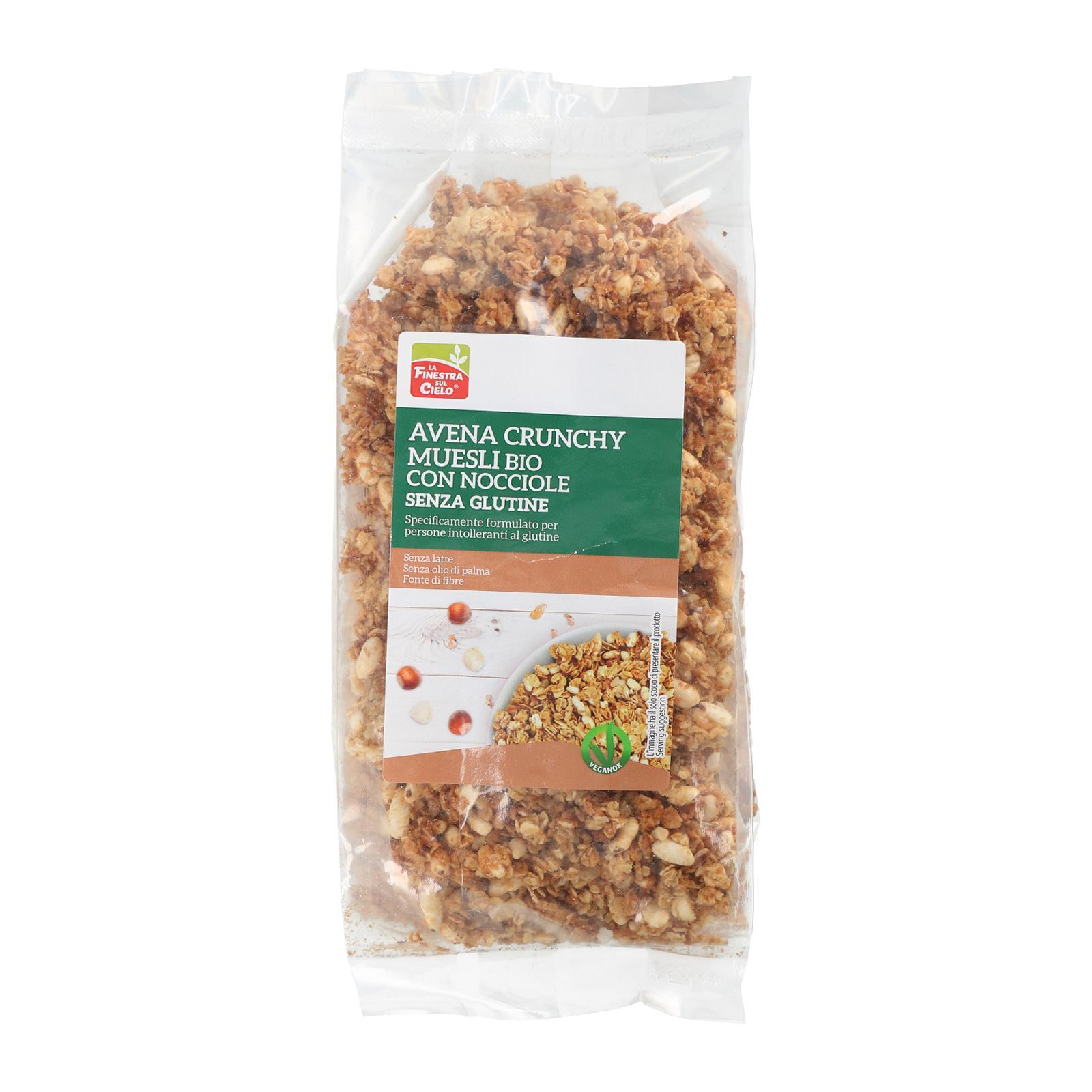 La Finestra Sul Cielo Organic Gluten Free Oats and Hazelnuts crunchy cereals