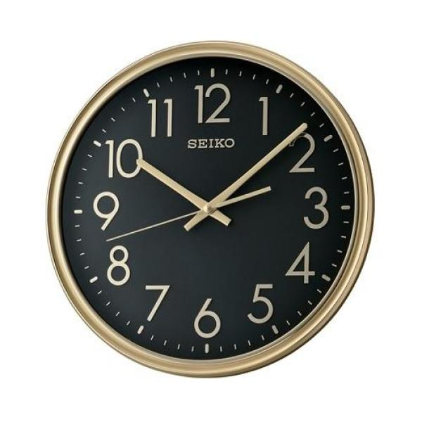 Seiko QXA744F Gold Case Analog Wall Clock