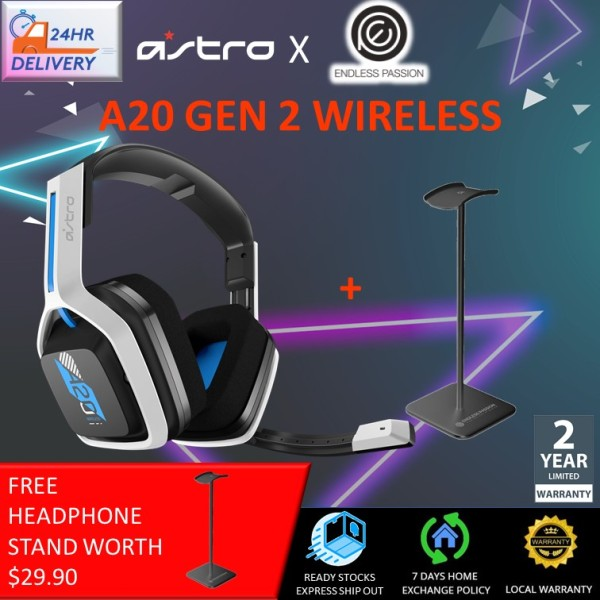 Astro A20 Wireless Headset Gen 2 for PlayStation 5, PlayStation 4, PC & Mac - White/Blue