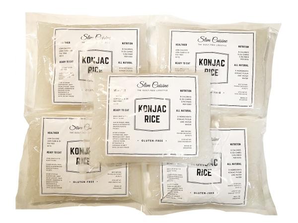Buy 5 Packets   Konjac Rice Shirataki   Singapore Brand Slim Cuisine   8 Calories   0.2g Carbs   Low Carb Keto Gluten Free Noodles & Rice   Low Calorie Fat Free   For Vegans Diabetic Weight Loss Paleo   Not Xndo Lokarb Slendier Singapore