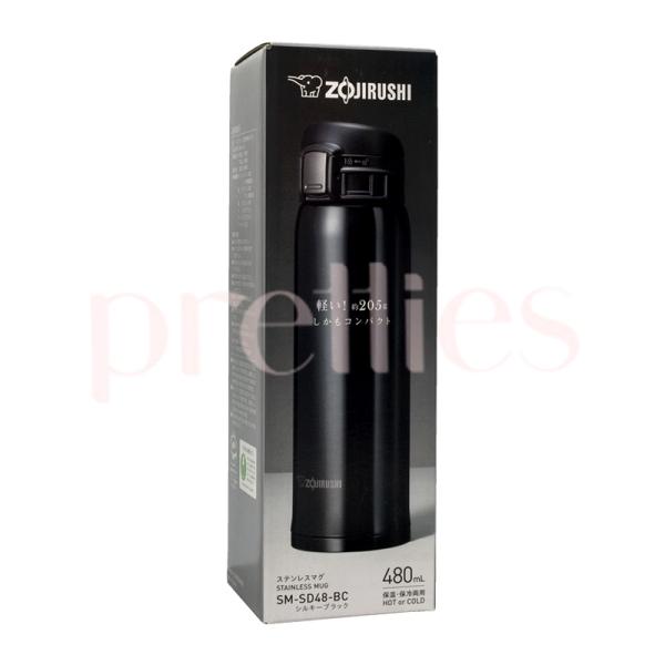 ZOJIRUSHI Stainless Steel Mug Bottle 480ml (SD-48) Black