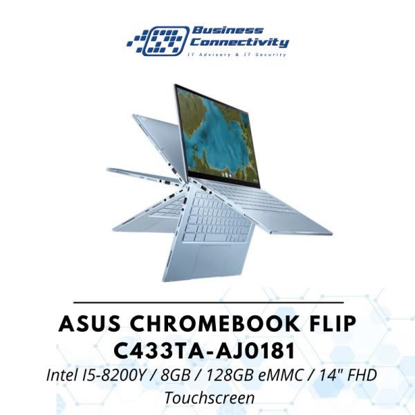 ASUS Chromebook Flip C433TA-AJ0181 / Intel I5-8200Y / 8GB / 128GB eMMC / 14 FHD Touchscreen