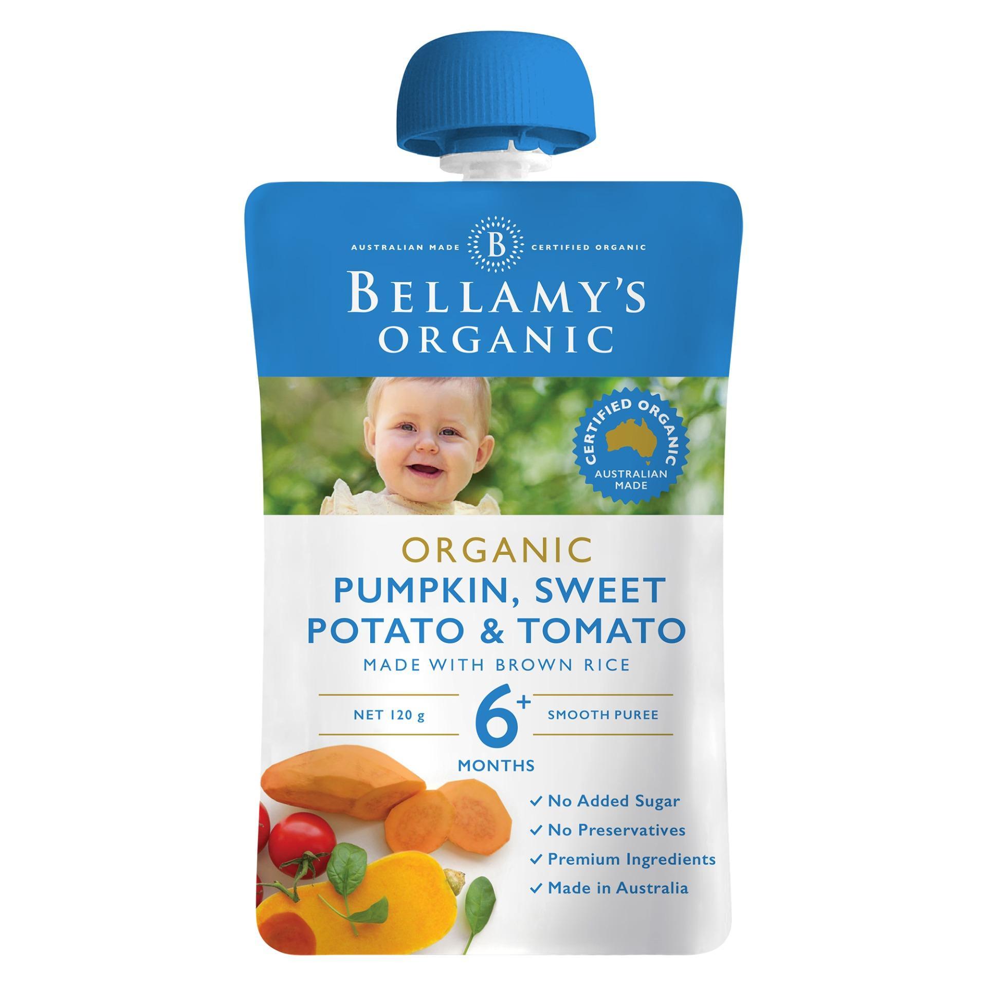 Bellamys Organic Pumpkin, Sweet Potato & Tomato By Lazada Retail Bellamys Organic.