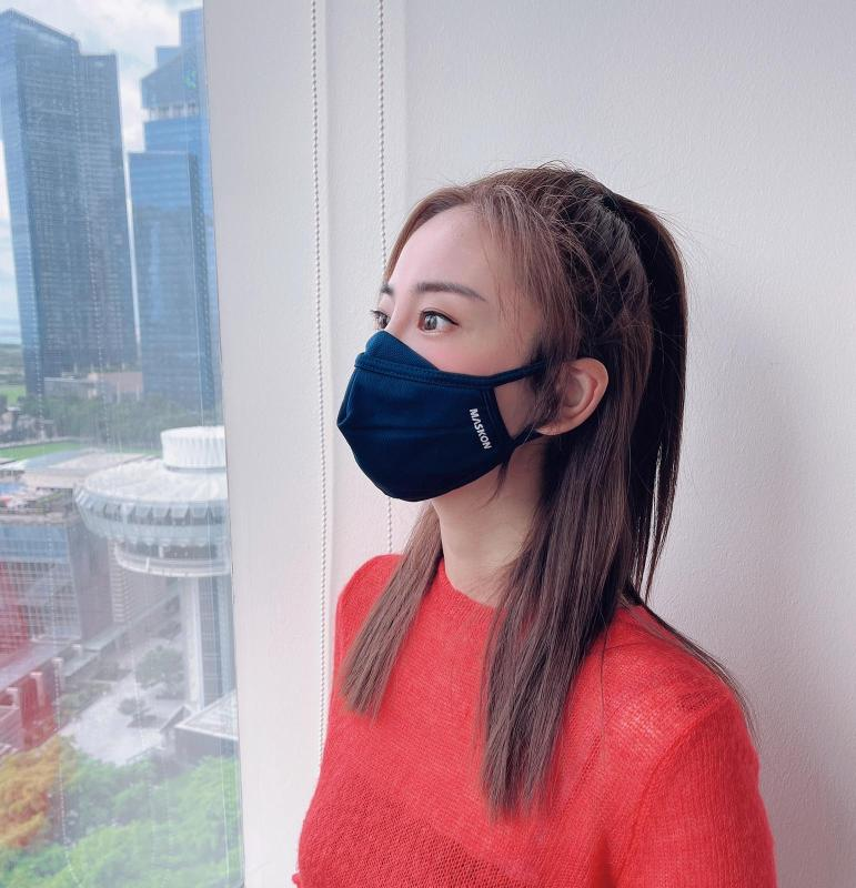 Buy 3 Ply MASKON Reusable Antimicrobial Face Mask - Adult Navy Blue 5 Pcs Singapore