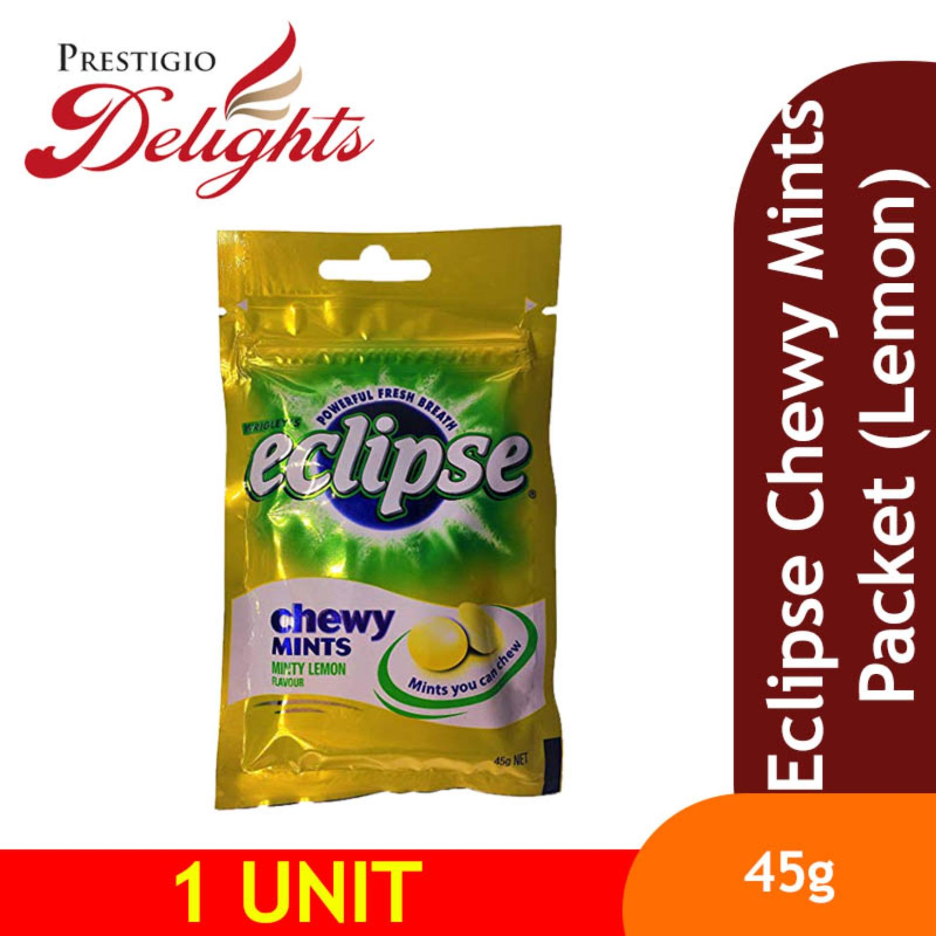 Eclipse Chewy Mints Packet (lemon) By Prestigio Delights.