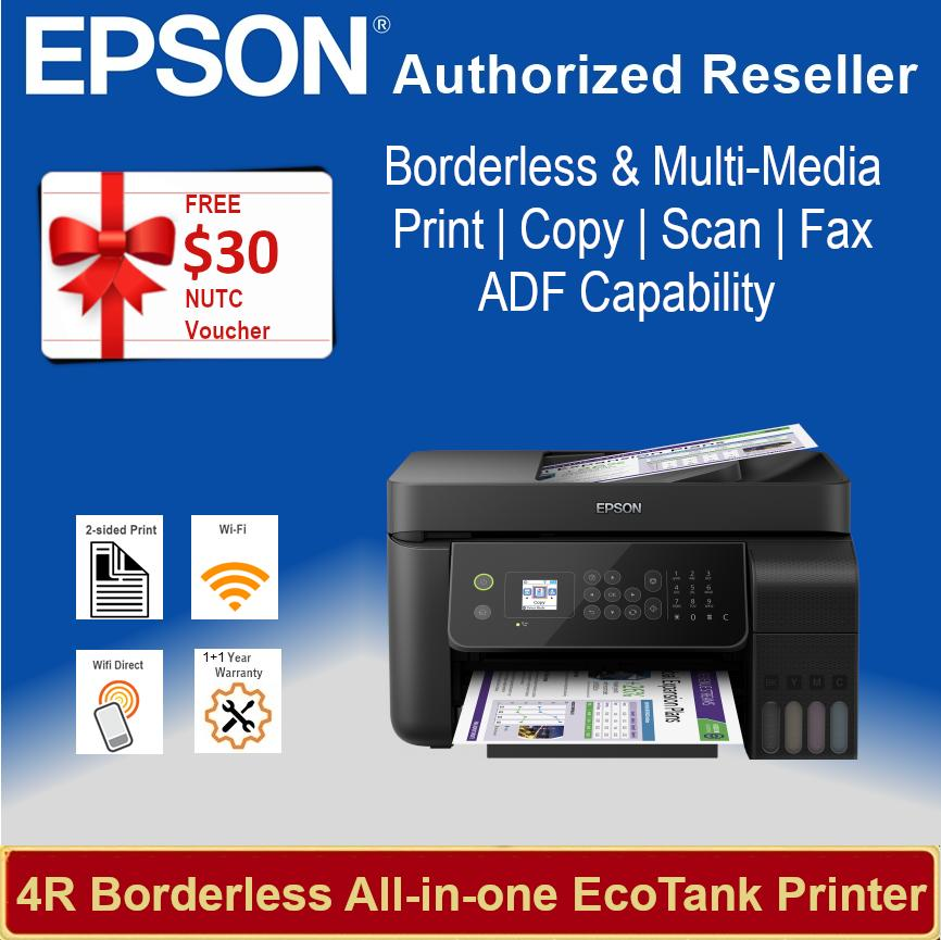 [Singapore Warranty] Epson L5190 Wi-Fi All-in-One Ink Tank Printer with ADF  replacement L565 L 5190 Singapore