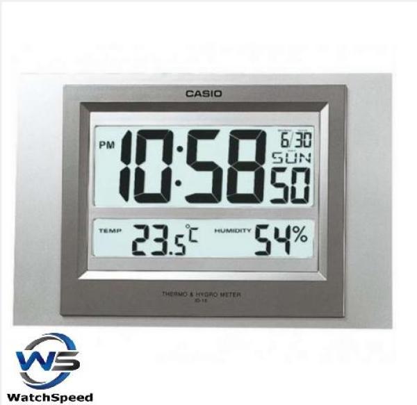 Casio ID-16S-8D Digital Auto Calendar Thermometer Hygrometer Wall Clock