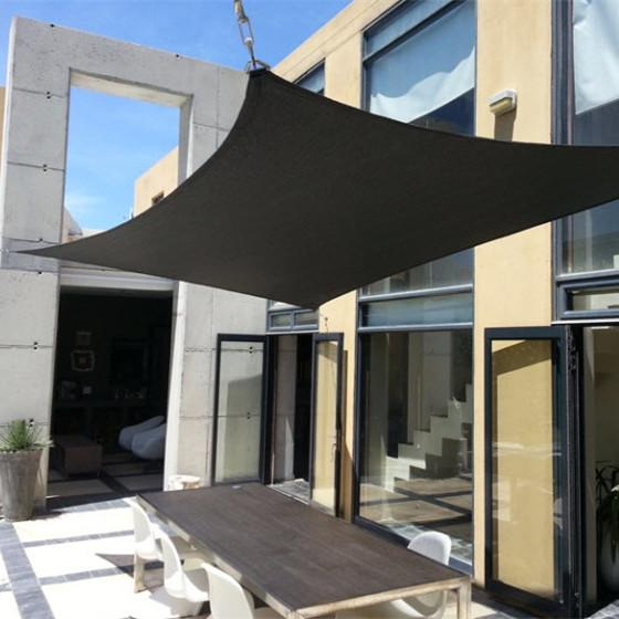 2x2m Square Waterproof Sun Shade Sail Awning Canopy 90% UV Blocking Outdoor Garden Sun Shelter UV Protection Oxford Fabric