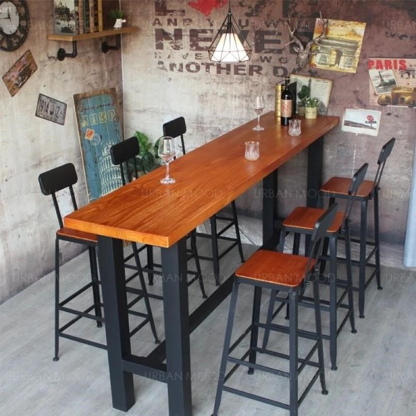 [Pre-Order] DELPHINE Modern Industrial Rustic Tall Bar Table & Stool
