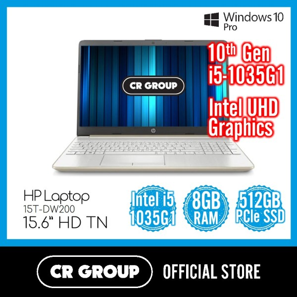 [Same Day Delivery] HP Laptop 15T-DW200 | 10th Gen Core i5-1035G1 | 8GB DDR4 RAM | 512GB PCle SSD | Intel UHD Graphics