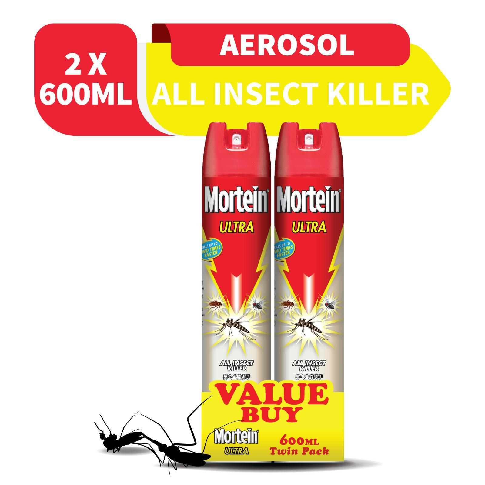 Mortein Ultra Odourless All Insect Killer Twin Pack By Redmart.