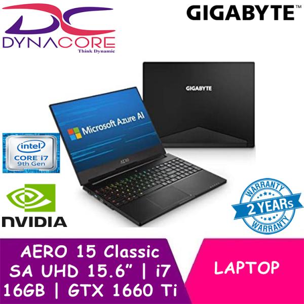 DYNACORE - GIGABYTE AERO 15 Classic SA UHD (i7-9750H/16GB DDR4 2666 (8GBx2)/GeForce GTX 1660 Ti GDDR6 6GB/512GB PCIE SSD/15.6inch AUO 4K UHD IPS Display/WINDOWS 10 PROFESSIONAL