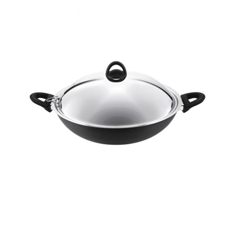 Tefal Novel Chinese Wok 36cm with Lid A69698 Singapore