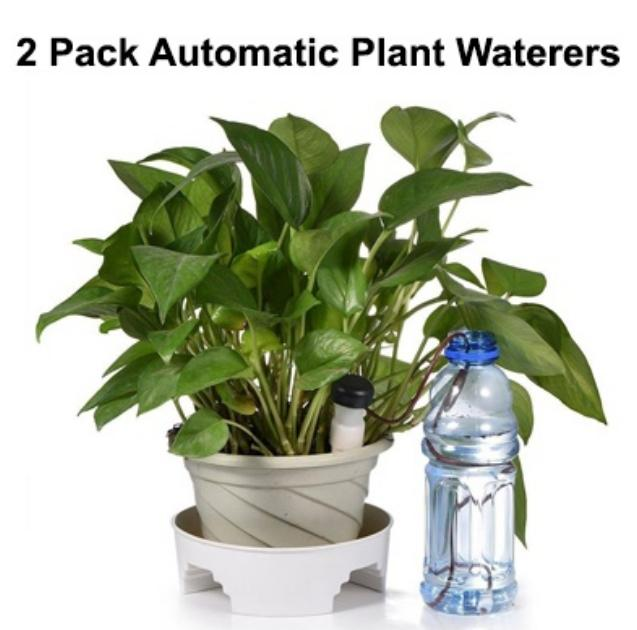2 Pack Automatic Plant Waterers Watering Devices Automatic Slow Release Vacation Gardening