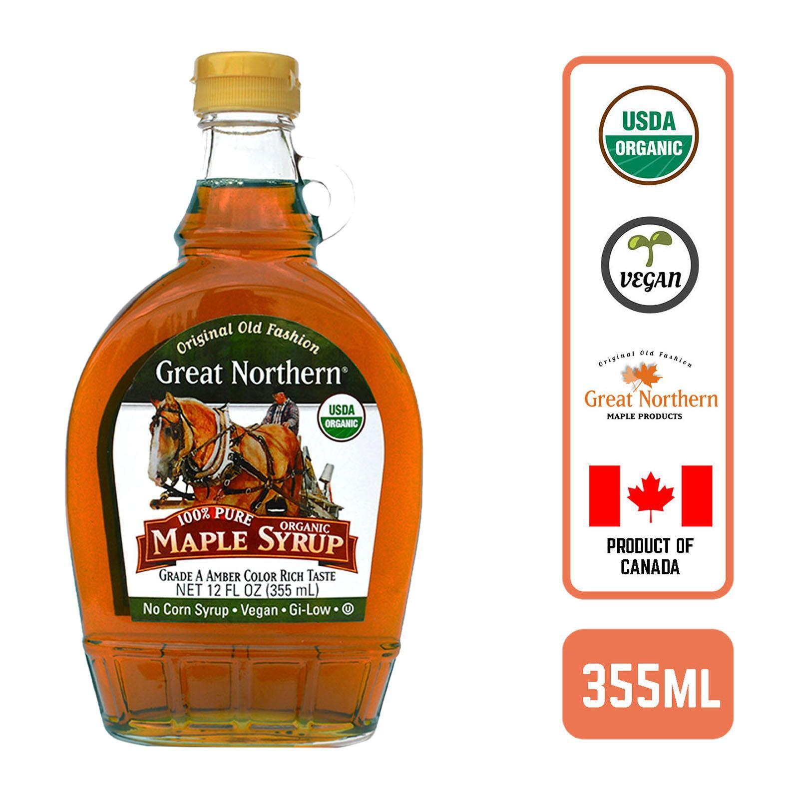 Great Northern Grade A 100% Pure Organic Maple Syrup 355ml By Redmart.