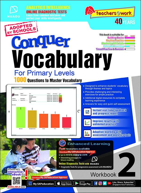 Conquer Vocabulary For Primary Levels Workbook 2 + Nuadu