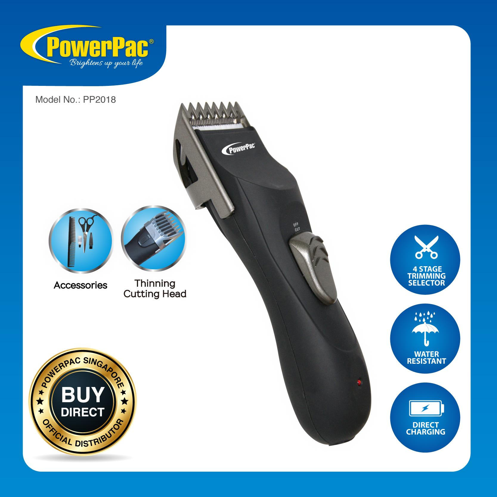 Powerpac Cordless Hair Cutter / Clipper (pp2018) By Powerpac.