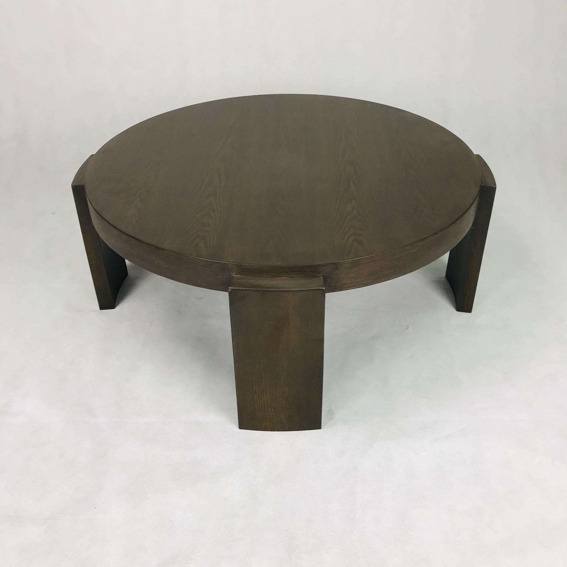 Oak Coffee Table - Round Design