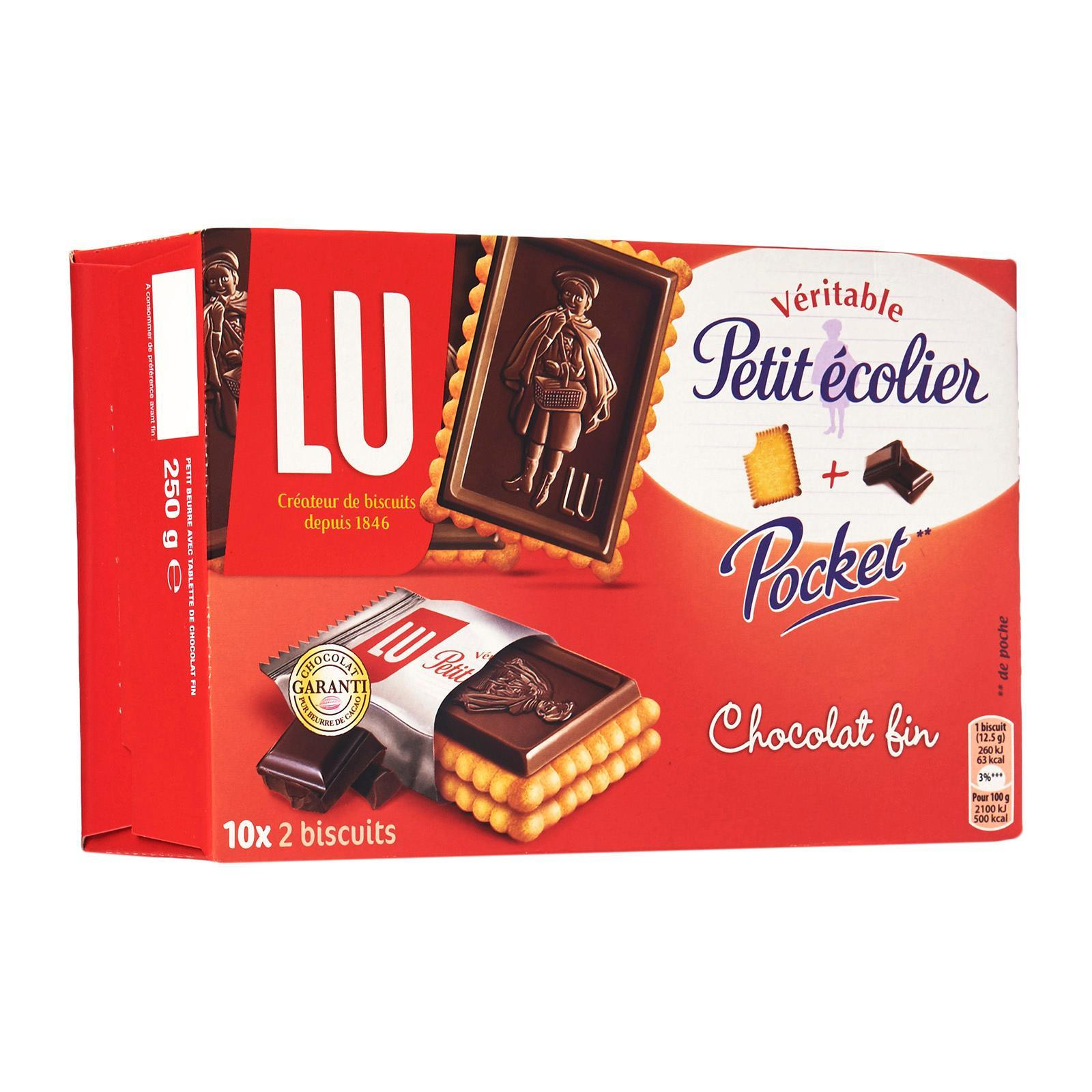 LU Petit Ecolier Pocket - Fine Chocolate French Biscuits