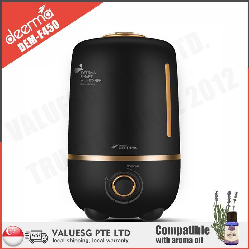 Deerma F450 Ultrasonic Air Humidifier/ 4L Large Capacity/ Essential Oil / SG Plug/ Up to 12 Months SG Warranty Singapore
