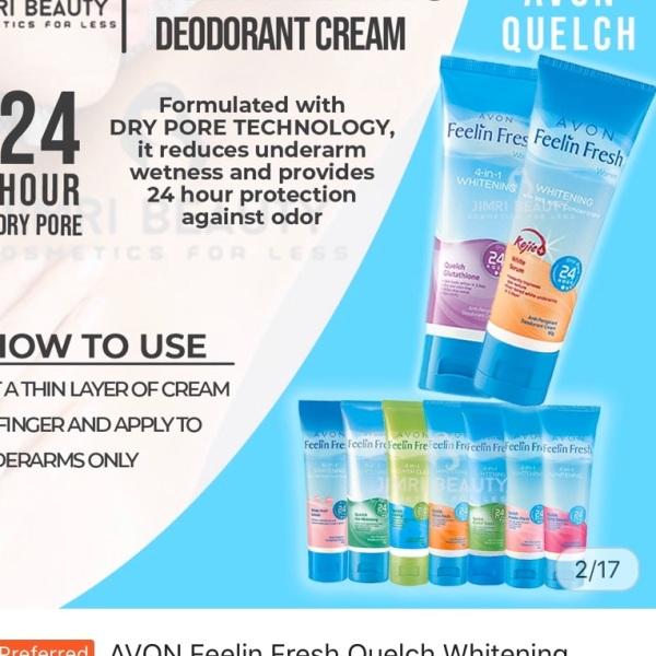 Buy Avon Feelin Fresh Quelch 60g x 2 tubes Singapore