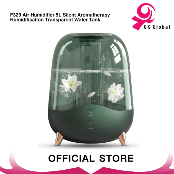 Deerma F325/F329 Air Humidifier 5L Silent Aromatherapy Humidification Transparent Water Tank/ F329 Air Humidifier 5L Silent Aromatherapy Humidification Transparent Water Tank Singapore