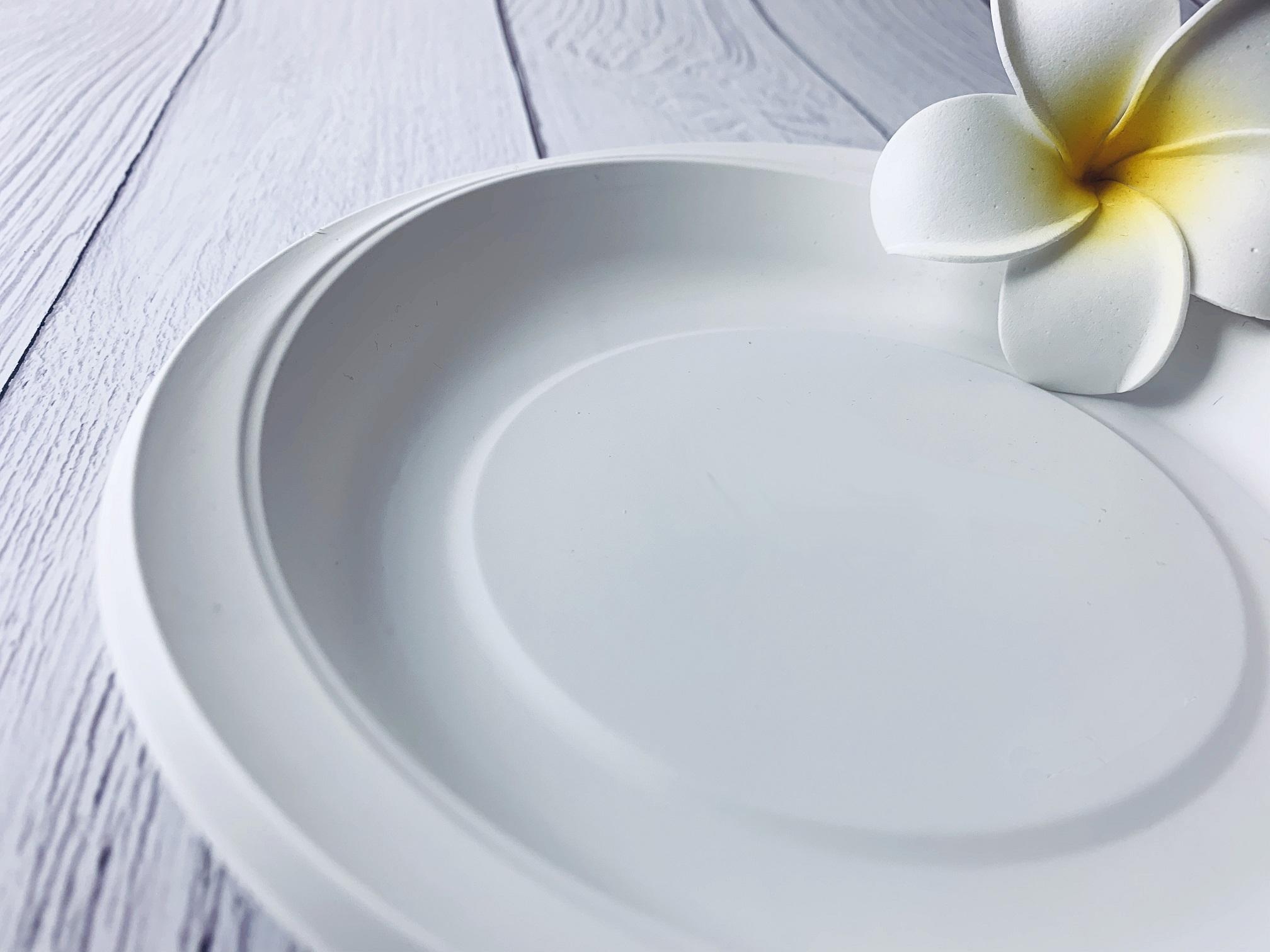 100pcs Cornware Plate 9 Inch - Biodegradable Eco Friendly Corn Based Disposable Tableware.