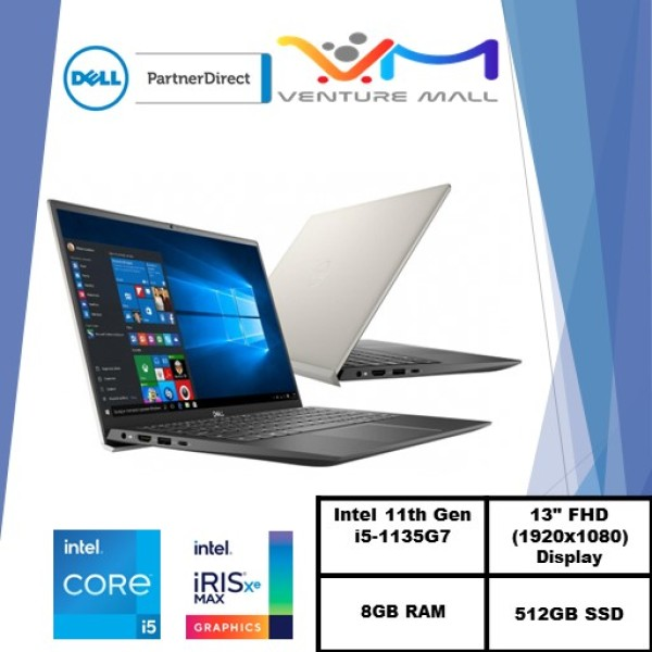 New 11th Gen (READY STOCK) New Vostro 13 5301- i5-1135G7/Win 10 Pro/ Iris® Xe Graphics/8GB RAM/512GB SSD/3yrs  warranty