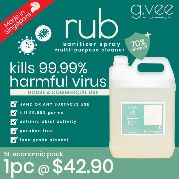 Buy 5L multi-purpose Sanitizer 70% FOOD GRADE Alcohol Singapore