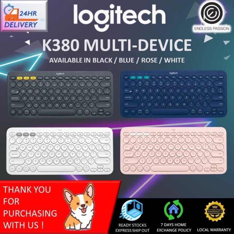 Logitech K380 Multi-Device Bluetooth Keyboard (Black/Blue/Rose/Off White) Singapore