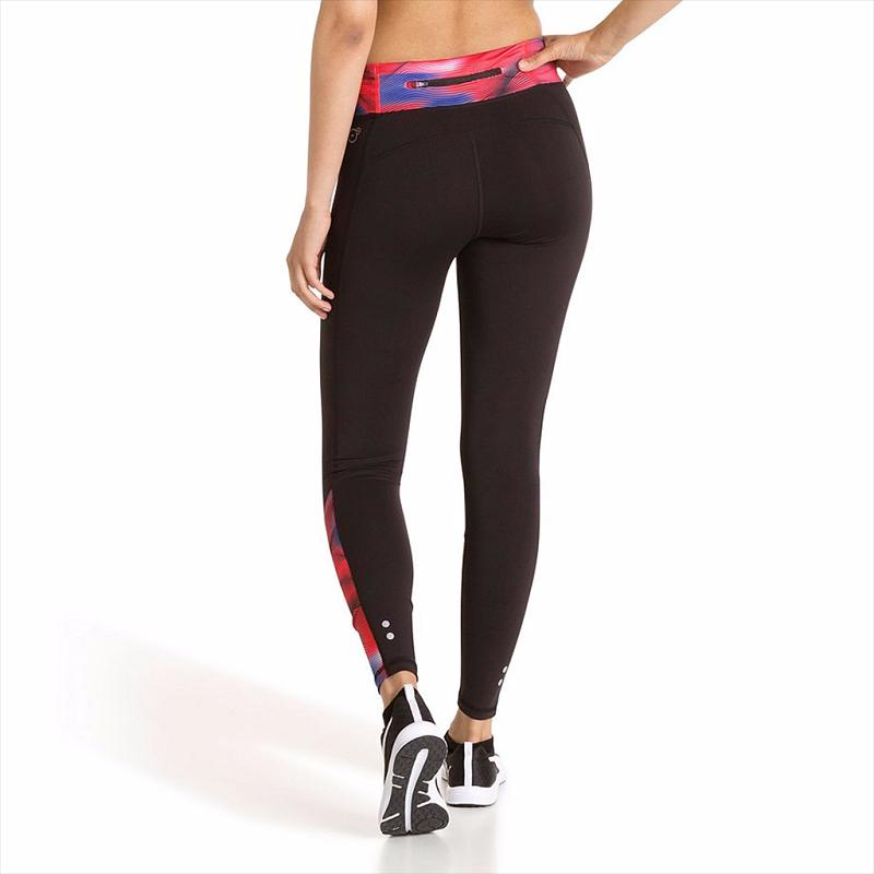 4f90156890f131 Puma Graphic Tight - Women (Black/Pink) 514334-02