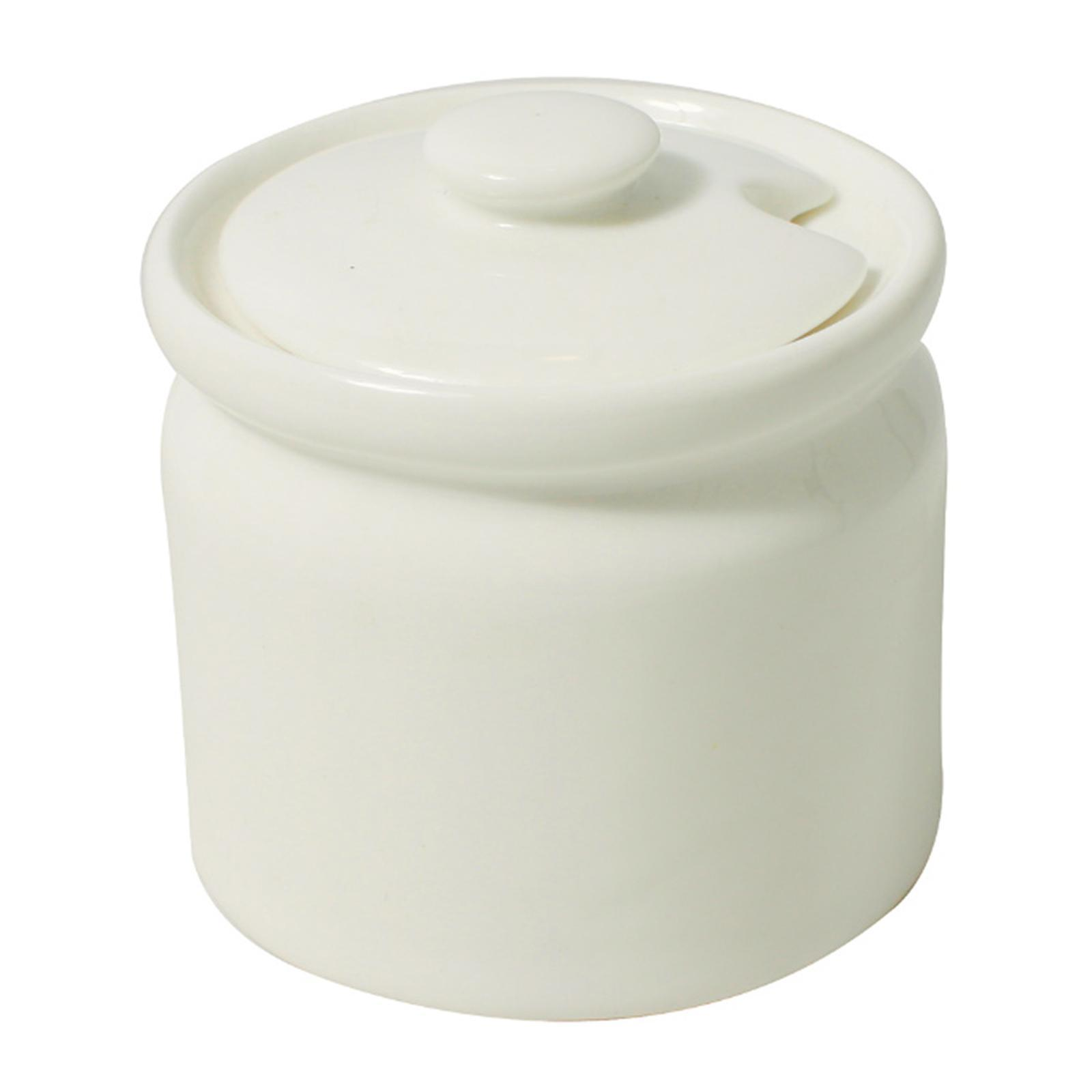 Cerabon Essentials Porcelain Sugar Pot With Lid Diameter 79 x H75MM - By ToTT