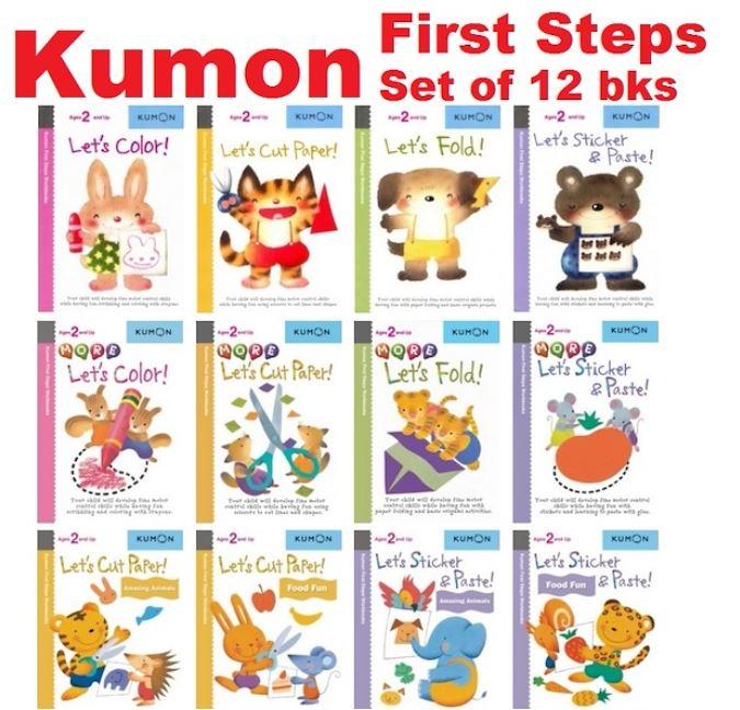 [SG READY STOCK] [12 BOOKS] Kumon First Step Activity Book Workbooks