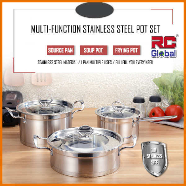 RC-Global  Cookware sets / Cooking Sets / Cooking Pot / Frying pan / Frying Wok / Soup pot Set / Stainless Steel / Wok Singapore