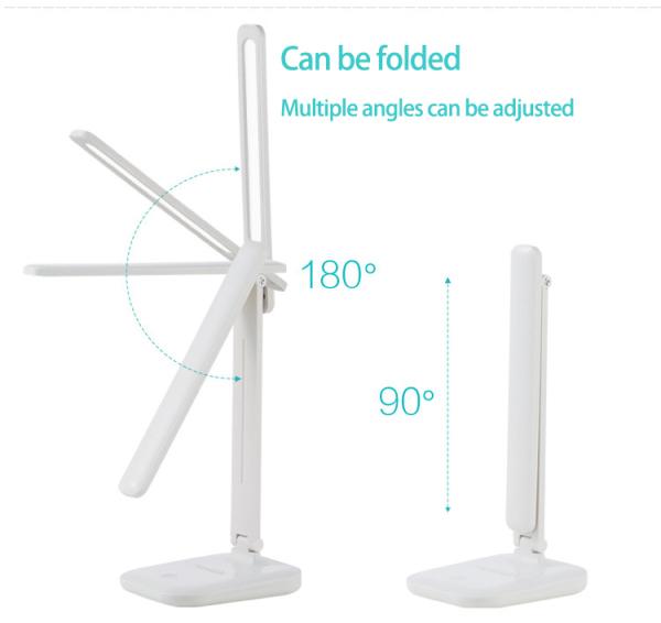 【Singapore seller】 Eye Protection LED Desk Lamp USB Plug-in Foldable Desk Lamp Touch Study Lamp/3-Level Brightness Colour