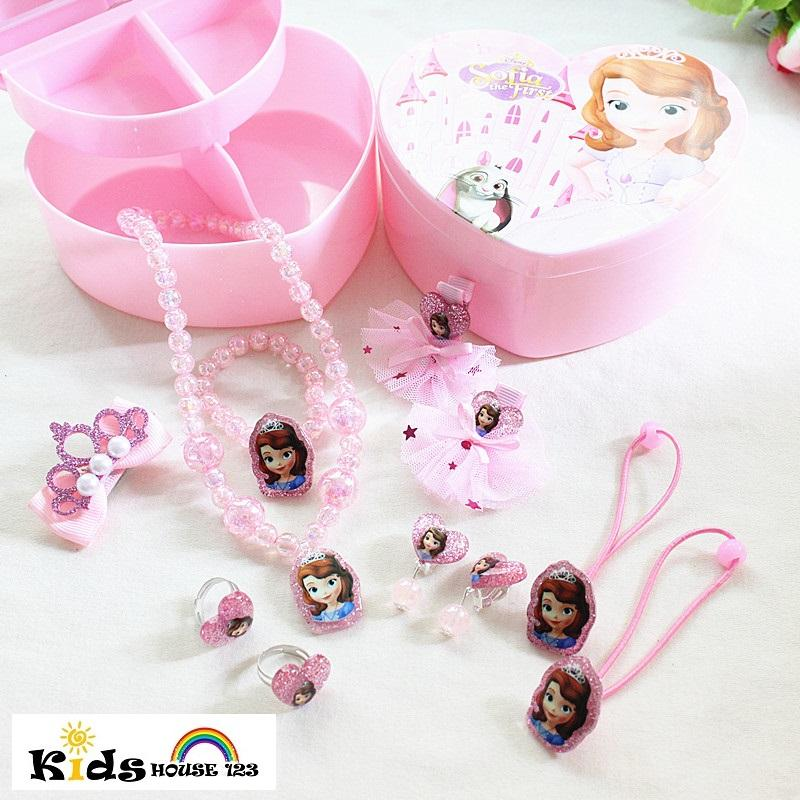 e96e7c0f5 Sofia the First Jewelry / Hair Accessories Gift Set for Baby Kids Children  Girl A018