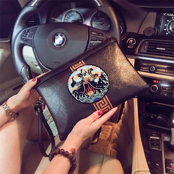 Trend New Style Chinese-style Korean Style Clutch Trend Fashion And Personality Ladys Clutch Bag Envelope Wrist Wrap